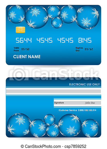 Vector credit card, front and back - csp7859252