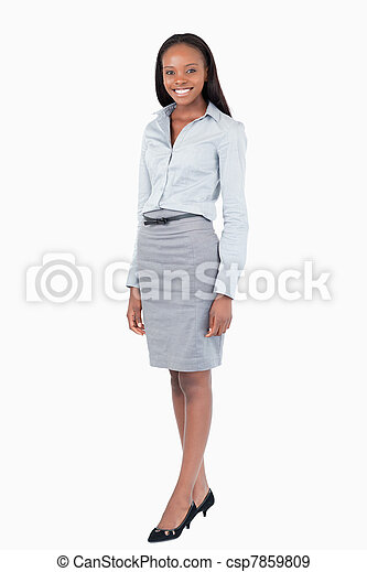 Portrait of a businesswoman standing up - csp7859809