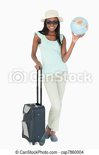 Young woman going on a world tour - csp7860004