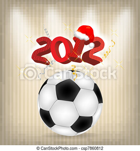 2012 year holiday illustration - csp7860812