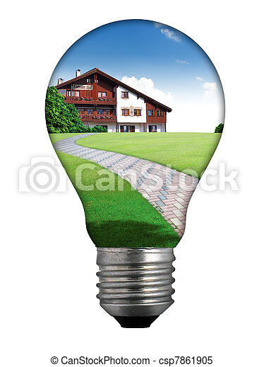 Clean energy, a light bulb - csp7861905