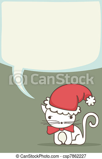 Christmas card for kids - csp7862227