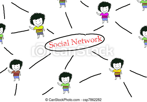 People Sketching Network, concept of Personal Relation  - csp7862282