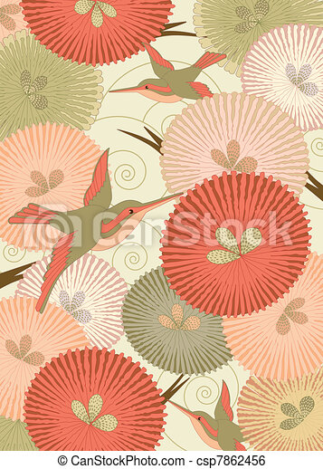 Pattern in Japanese style - csp7862456