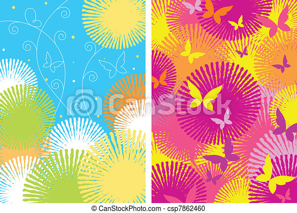 Two ornamental patterns - csp7862460