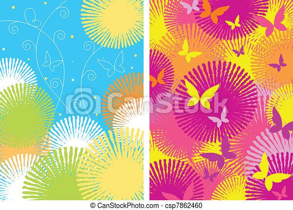 Two ornamental patterns  - csp7862460