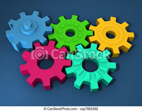 Multi color rubber gear - csp7862492