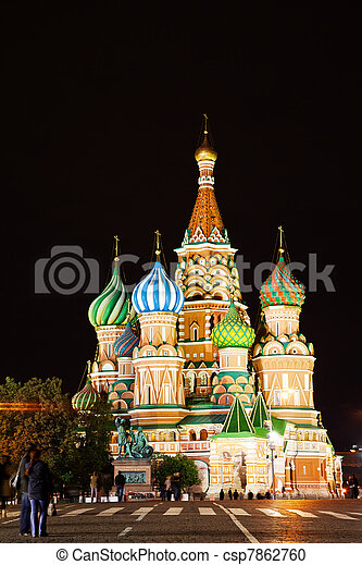 St Basil's Church on the Red Square in Moscow - csp7862760