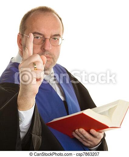 judge in court with code - csp7863207