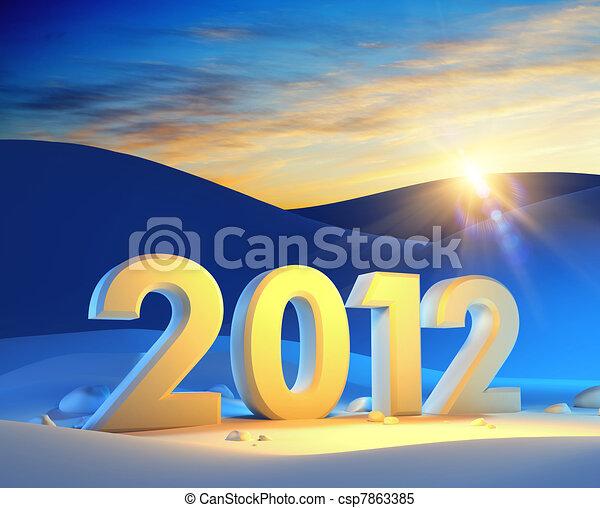 new year 2012 - csp7863385