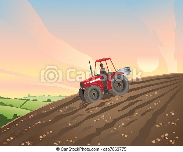 tractor - csp7863775