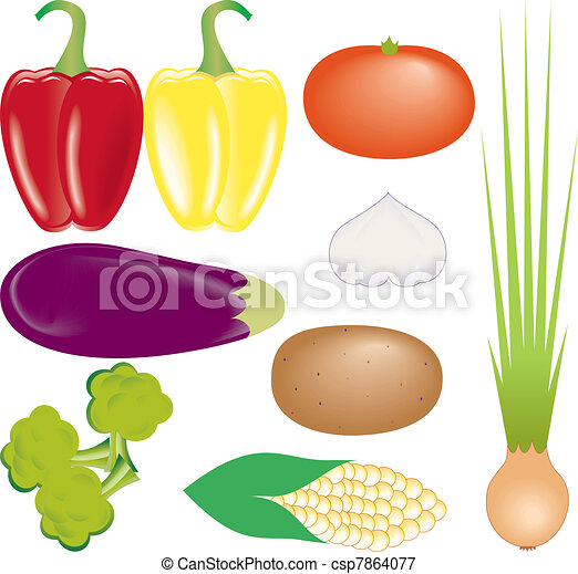 vegetables vector set - csp7864077