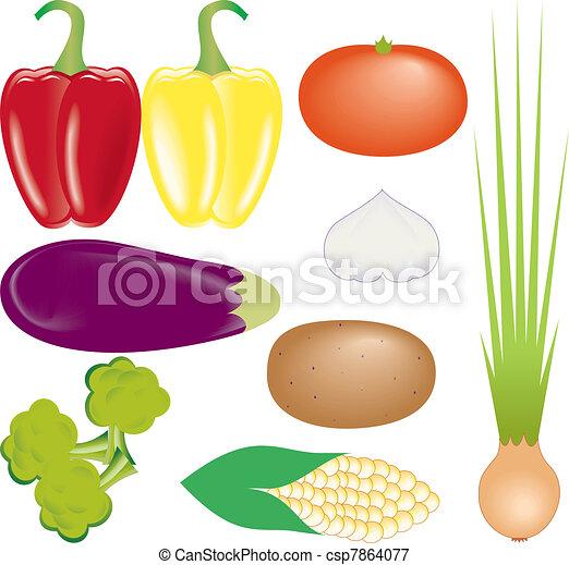 vegetables vector set - csp7864077