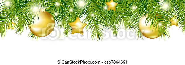 Green New Year Garland - csp7864691