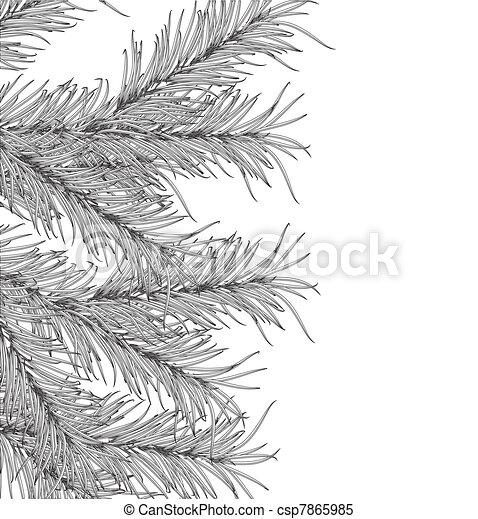New Year's pine tree  - csp7865985