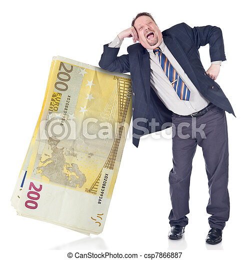 Foolish banker trusting euro - csp7866887