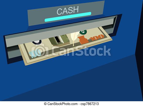 ATM with money - csp7867213