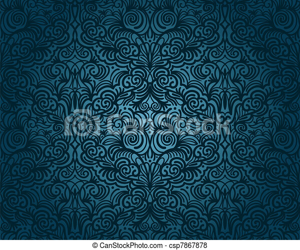 vector abstract seamless floral pattern, vintage - csp7867878