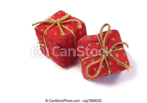 Red Christmas presents - csp7868032
