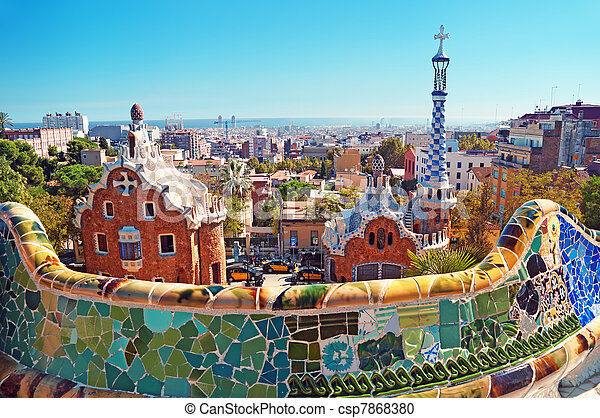 Park Guell in Barcelona - Spain - csp7868380