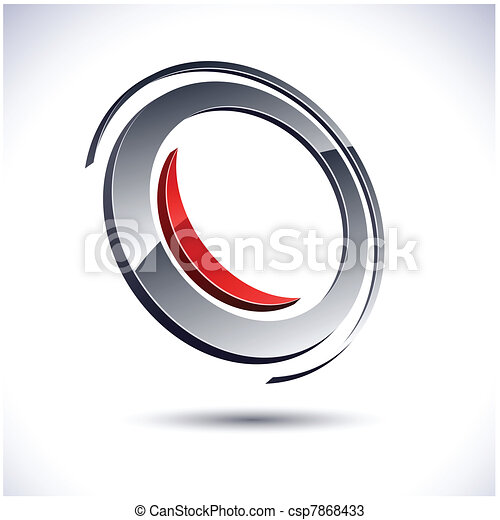 Abstract 3d icon. - csp7868433
