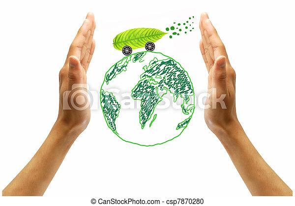 protect the environment concept  - csp7870280