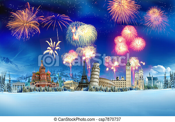 Travel - New year around the world - csp7870737