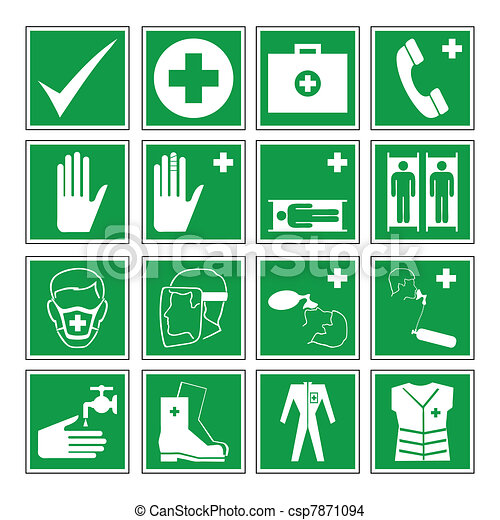 Hazard warning, health & safety - csp7871094