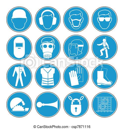 Hazard warning, health & safety - csp7871116