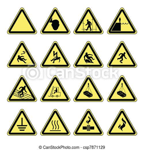 Hazard warning, health & safety - csp7871129