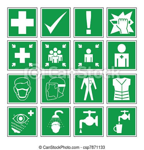 Hazard warning, health & safety - csp7871133
