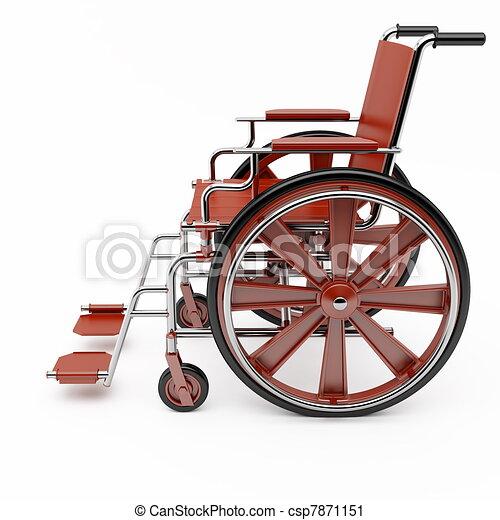 Red wheelchair  - csp7871151