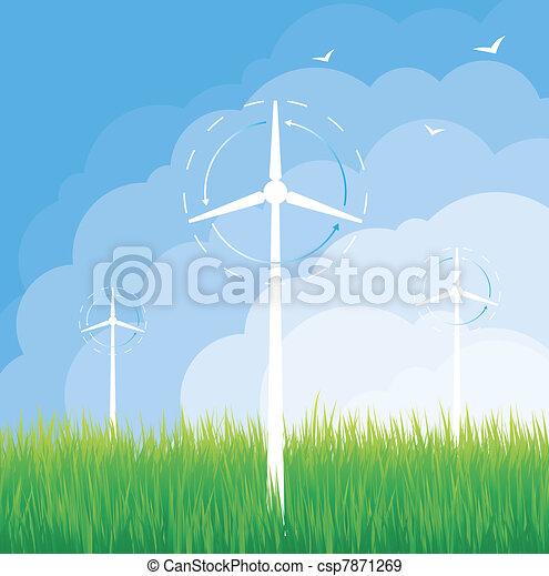 Windmill alternative energy - csp7871269
