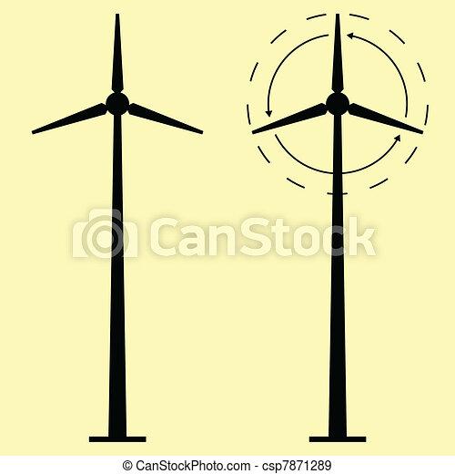 Windmill alternative energy - csp7871289