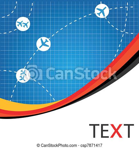 Airline airplane flight path travel - csp7871417