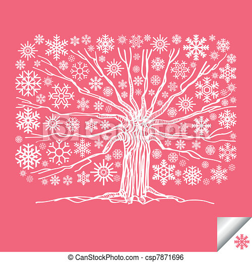 Colorful tree vector background - csp7871696