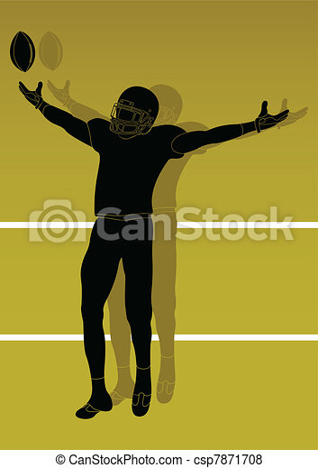American football player - csp7871708