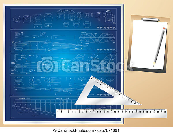 Drawing plan architectural - csp7871891