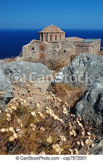 Church of Agia Sofia of byzantine town Monemvasia - csp7872001