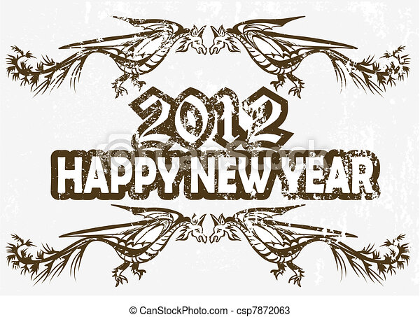 New Year's Eve greeting card - csp7872063