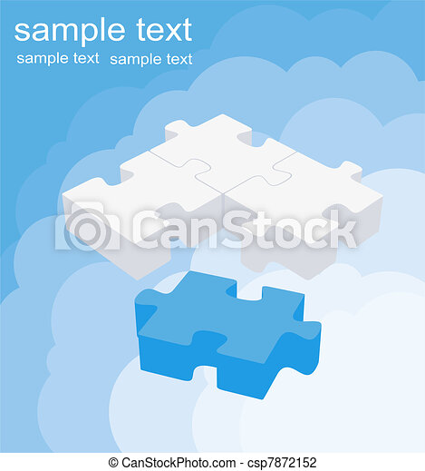 Abstract puzzle background decor - csp7872152