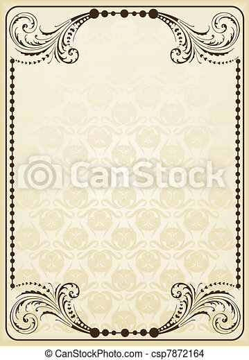 Abstract vintage frame and elements - csp7872164