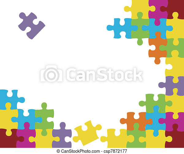 Abstract puzzle background decor - csp7872177