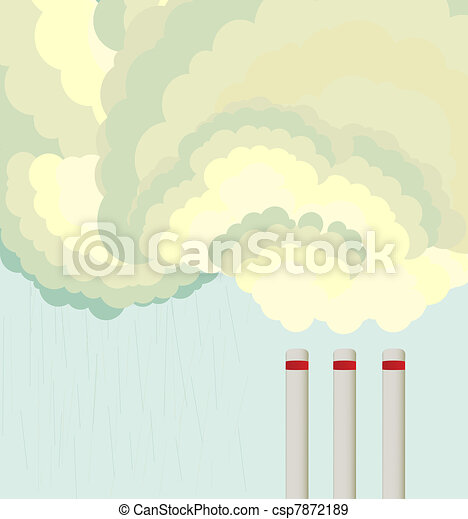 Air pollution cloud from factory - csp7872189