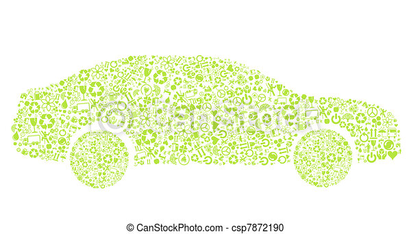 Eco car vector concept - csp7872190