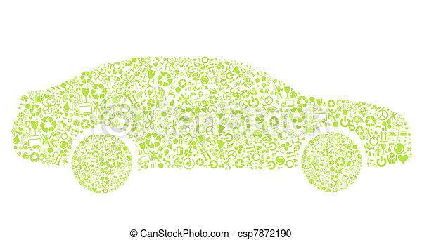 Eco car vector concept - csp7872190