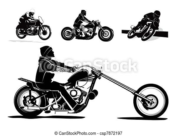 Motorcycle vector background - csp7872197
