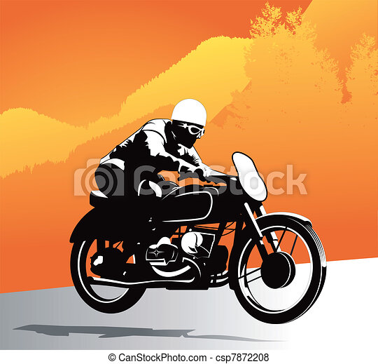 Motorcycle vector background - csp7872208