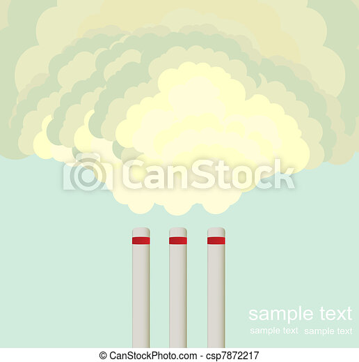 Air pollution cloud from factory - csp7872217