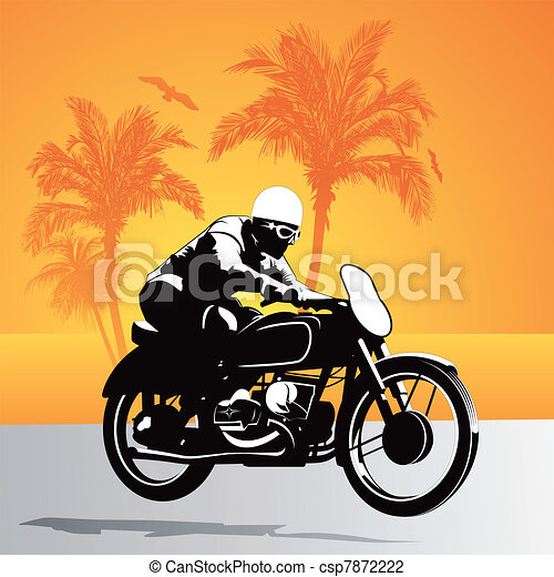 Motorcycle vector background - csp7872222